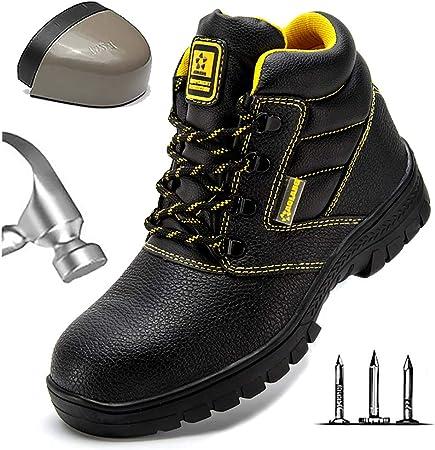HOAPL Hombres Zapato Seguridad Zapatos Trabajo con Punta de Acero Transpirables Zapatillas Deportivas Ligeras Anti-Piercing Antideslizante Zapatillas de Senderismo Calzado de protección,40: Amazon.es: Hogar
