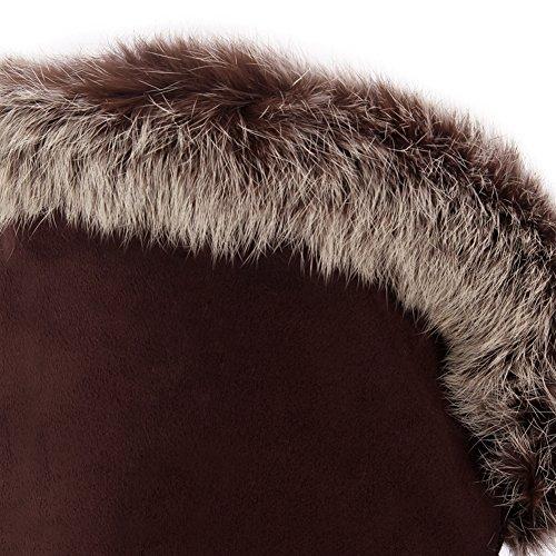 b705e837ff ... BIGTREE Mujer Botas largas Otoño Invierno Cálidas Piel Cordones Casual  Cómodo Cuña Botas sobre la rodilla ...