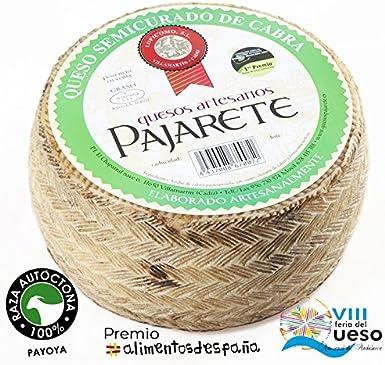 Pajarete | Queso semicurado de cabra 1,5 Kg: Amazon.es ...