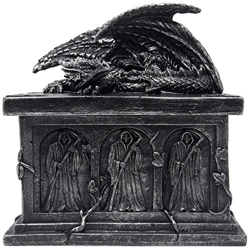Mythical Guardian Dragon on Tomb Trinket Box in