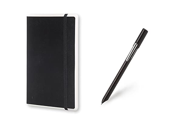 Moleskine Smart Writing Set, Notebook e Pen+ Smartpen, Taccuino con Copertina Rigida Nera Adatta all'Uso con Pen Moleskine+, Colore Nero, Fogli Puntinati