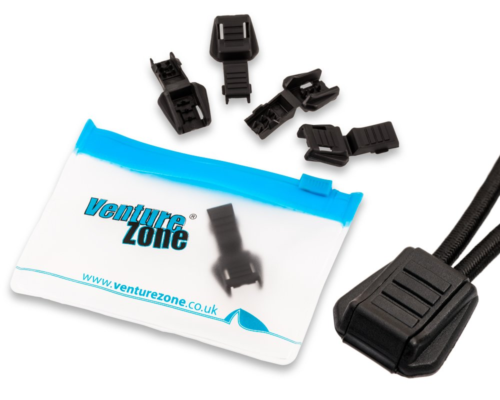 VentureZone Low Profile Cord Ends/Zip Pulls – 5 Pack – for 2/3mm Cord – with Zip-Pouch