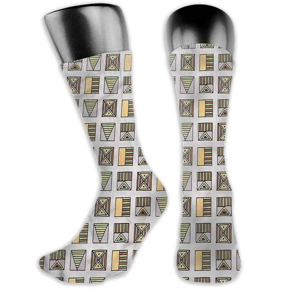 Socks Design Color Tribal,African Geometric Design,socks for toddler boys non skid