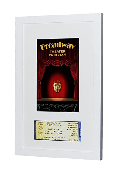 Amazon.com - Broadway Playbill Ticket Frame (Program - Ticket, Satin ...