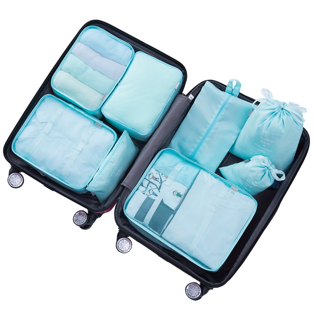 a5f10fa5ed64 Shoptagr | Packing Cubes For Travel 8 Sets Luggage Organiser Storage ...