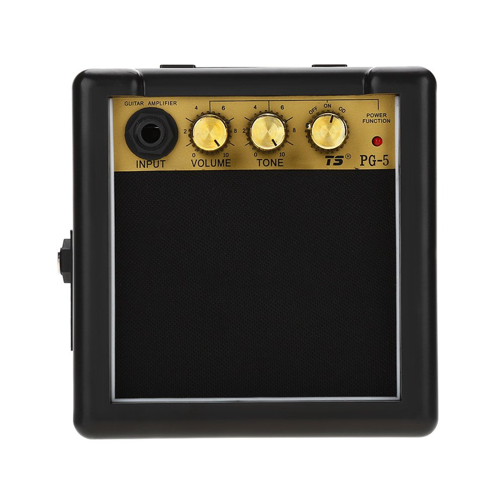 T-best Amplifier Guitar AMP,PG-5 High Sensitivity 5W Electric Guitar Speaker with Volume Tone Control