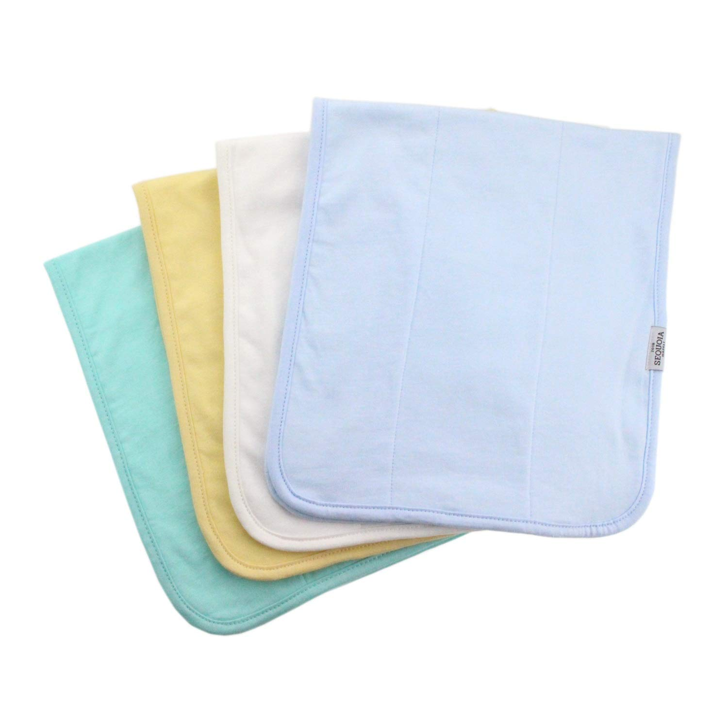 Sequoia Market Baby Burp Cloths, 3 Layers of Premium Organic Cotton, XL (23 x 10), Soft and Luxurious, Exceptionally Absorbent, Giftable for Showers/Layette, Newborn Boys/Girls, 4 Pack by Sequoia Market