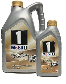 Aceite Motor MOBIL 1 FS 0W40 en 6 litros (Nueva Fórmula mejorada): Amazon.es: Coche y moto