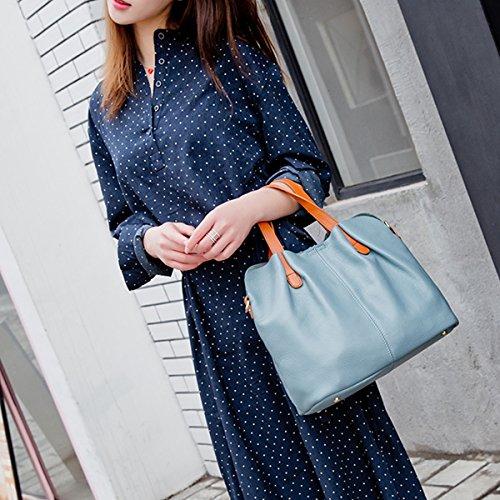 portés fashion portés M156 Sac Sac bandoulière femme LF en Sac Valin épaule main cuir main à Bleu Sac qvOXxw7