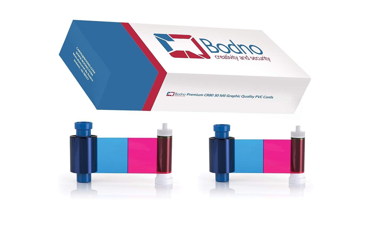500 Pack Bodno Premium CR80 30 Mil Graphic Quality PVC Cards