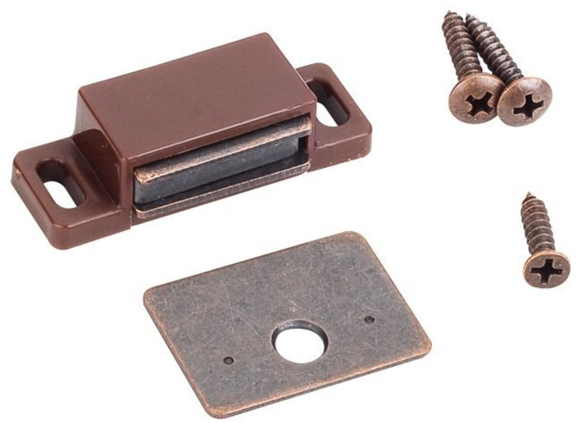 MPJ Box of 10- 15lb Single Magnetic Catches Brown/Antique Copper Retail Pack