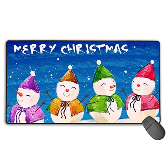 2f77a7ff126c Amazon.com: Wide(Long) Computer Mousepad-Wish-You-Merry-Christmas ...