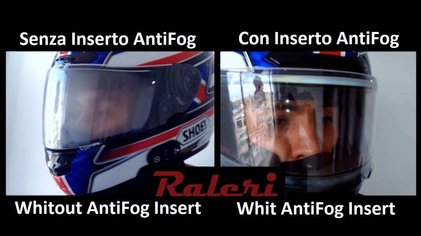 Standard , Smoke 100S 11.25 x 3.74 Raleri Lightshade Universal Motorcycle Helmet Anti-Fog Shield Insert Len