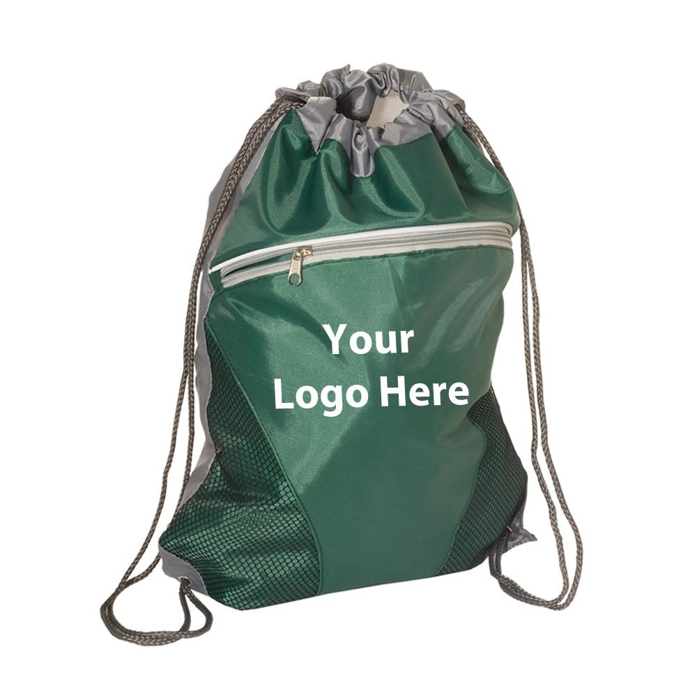 Zip Pouch String A Sling - 50 Quantity - $4.35 Each - PROMOTIONAL PRODUCT / BULK / Branded with YOUR LOGO / CUSTOMIZED