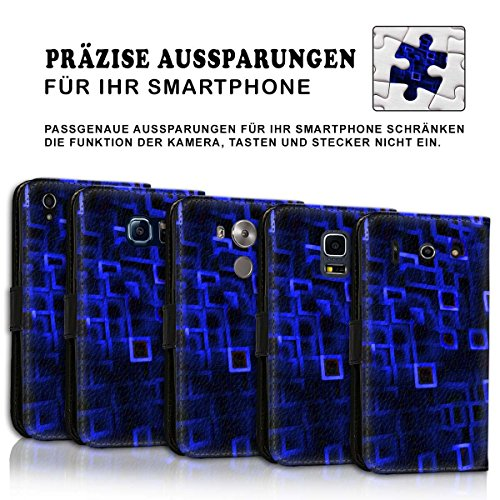 Wallet Book Style Flip Handy Tasche Case Schutz Hülle Schale Motiv Etui für Apple iPhone 6 Plus / 6S Plus - Design Flip MV183