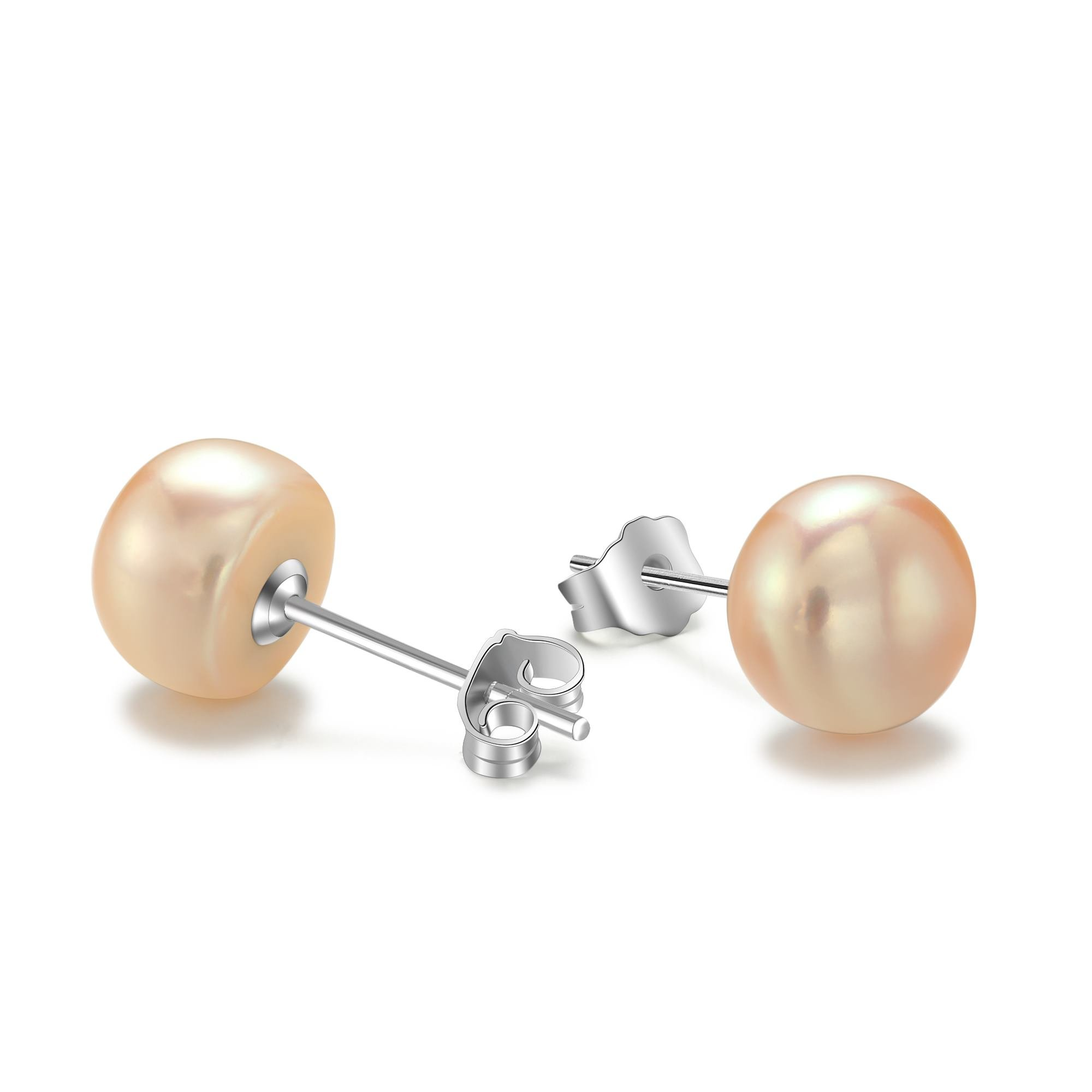 Yanxyad Handpicked AAAA+ Round Stud Freshwater Cultured Pearl Earrings