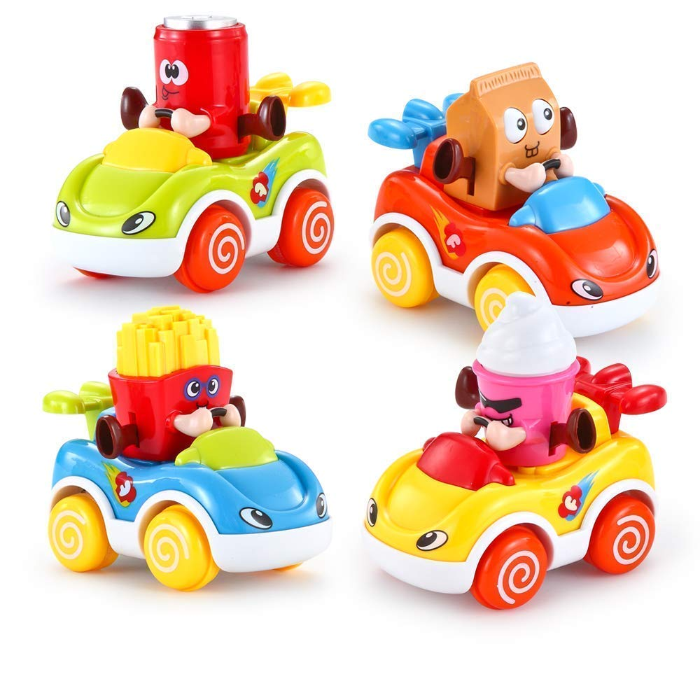 Vatos Toddler Toy Cars For Kid Car Set Of 4 Friction Powered Cars