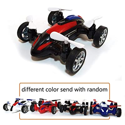 YENJO Quadcopter Drone Flying Car, Durable Children Remote Control Inertia Toy Car Mode Push & Pull Toys: Clothing