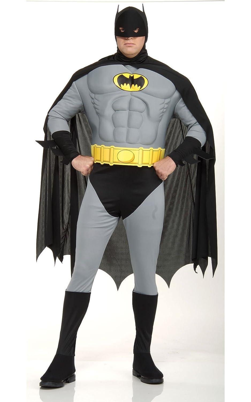¡No dudes! ¡Compra ahora! Rubies 's 's 's – Disfraz de oficial Batman Deluxe con Músculos en el pecho – Adult Plus Size  comprar mejor
