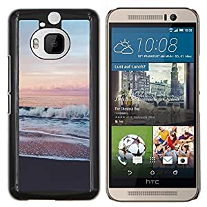 For HTC One M9+ / M9 PLUS - ocean sea pink sky horizon beach view /Caja protectora de pl???¡¯????stico duro de la cubierta Dise???¡¯???¡Ào Slim Fit/ - Sup