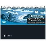 Caderno Sketchbook Espiral Capa Plástica A4 Académie Sense 150 G 50 Folhas