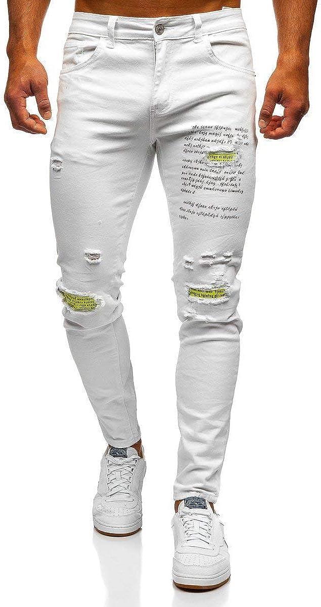 Sfumature di Moda Straight Leg BOLF Pantaloni Jeans Uomo 6F6 Denim
