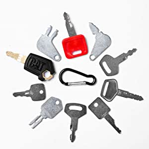 Aree 10 Keys Heavy Equipment Construction Key Set/Construction Ignition Keys Sets (10 Keys Set)