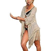Bsubseach Mujer Ropa de Playa Traje de Baño Cubrir Bikini Camisola y Pareos