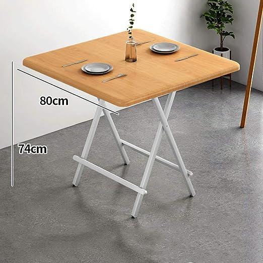 mesa plegable Simple para El Hogar Mesa De Comedor Cuadrada Mesa ...