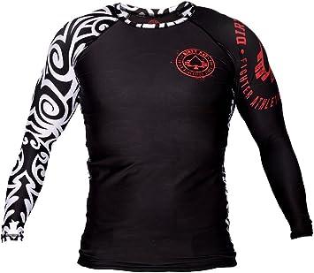 Dirty Ray Tribal NZ All Black camiseta rashguard manga larga hombre RG1LS: Amazon.es: Deportes y aire libre
