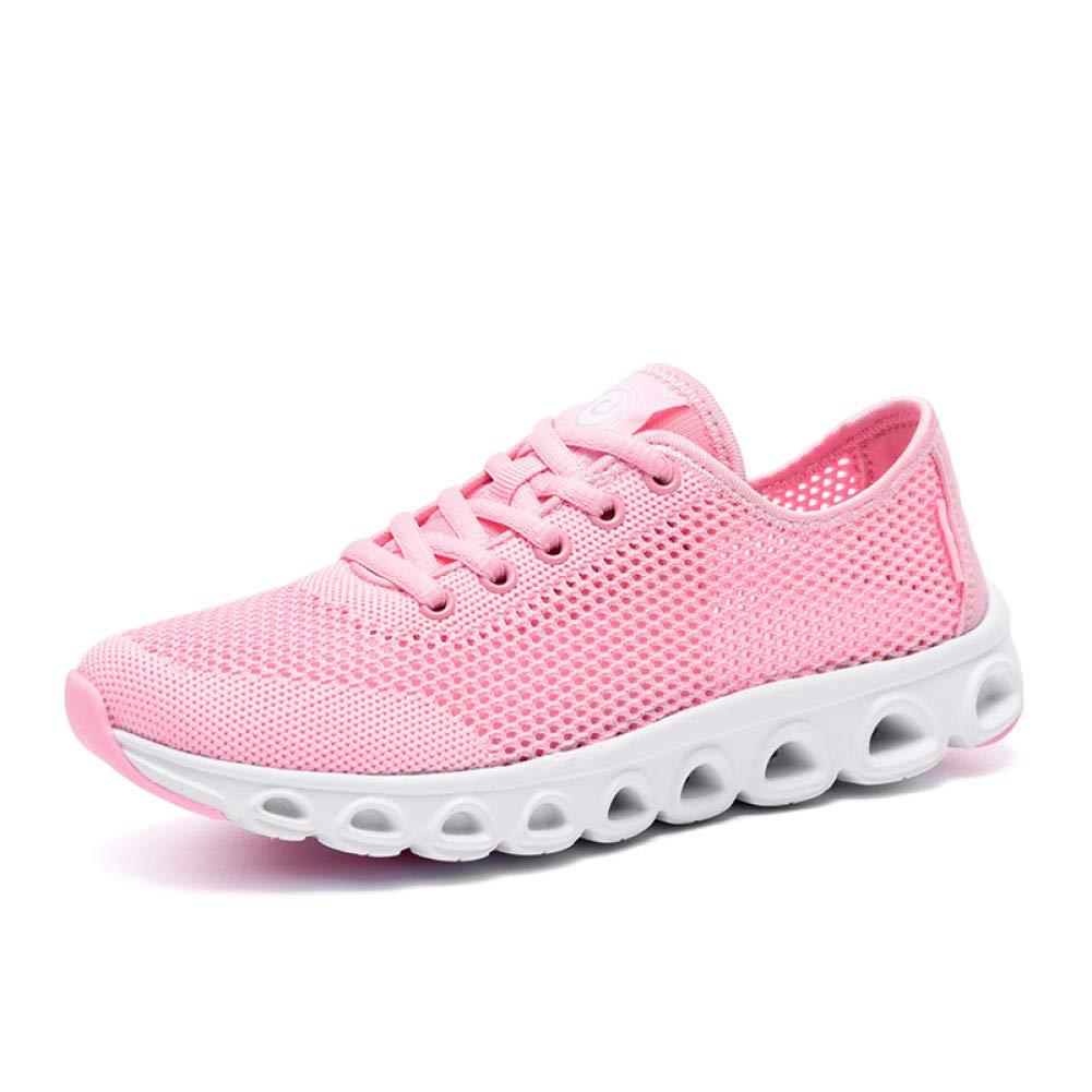 259Rosa (female) PDHP Turnschuhe Turnschuhefrauen Air Cushion Cushion Cushion Turnschuhe   Mode Frauen   Woven Schuhe Lace Up Student Net Laufschuhe Frauen Weißliche Schuhe  zu verkaufen
