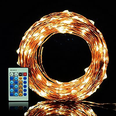 xtf2015 LED String Lights Flexible Copper Wire Lights 99ft/30m 300LEDs Waterproof Starry String Lights with Remote Control for Christmas Wedding and Party