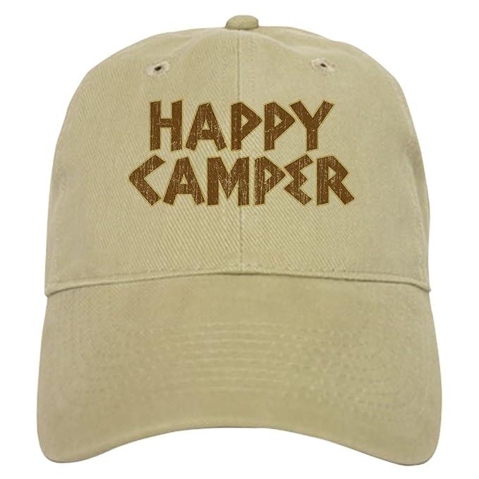 124017f83d187 CafePress - HAPPY CAMPER Cap - Baseball Cap with Adjustable Closure