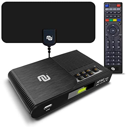 Best Ota Dvr 2020.Tv Converter Box Digital To Analog Atsc Streaming Media Players Pvr Dvr Recorder W 35 Miles Over The Air Hd Antenna Amplifier Upgraded Remote W