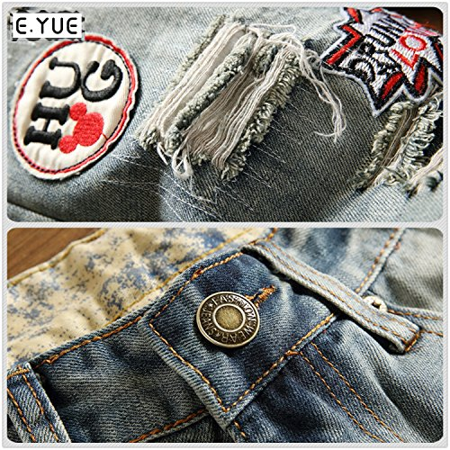 E.YUE Jeans-Herren Slim Fit Basic Style Stretch-Denim Jeans-Hose#777