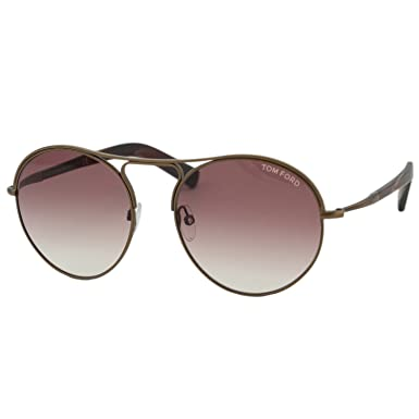 c69bbc20e5 Tom Ford Sunglasses - Jessie Frame  Matte Dark Brown Lens  Burgundy  Gradient-TF044949T at Amazon Women s Clothing store