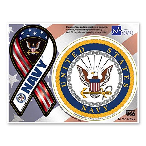 Navy Combo Mini Ribbon/Circle Magnet
