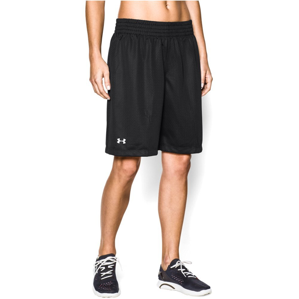 Under Armour Double Shorts, Black//White, Large