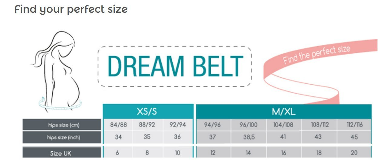 BABYMOOV Dream Belt Pregnancy Sleep Support Pink//Rose Gold Medium//X-Large