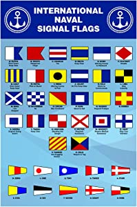 International Naval Signal Flags Reference Chart Cool Wall Decor Art Print Poster 12x18