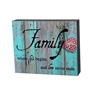 Smarten Arts Wall Box Sign for Home Decor-Family, Where Life Begins and Love Never Ends