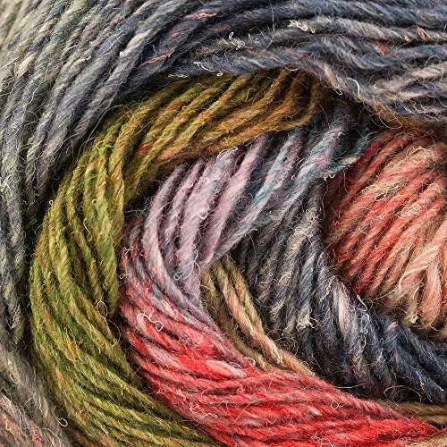 Noro Silk Garden Sock Yarn - Noro Silk Garden Lite, 2131 - Salmon-Blues-Greens-Rose-Nut