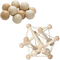 Manhattan Toy Natural Skwish Rattle and Baby Beads Motor Skill Development Set