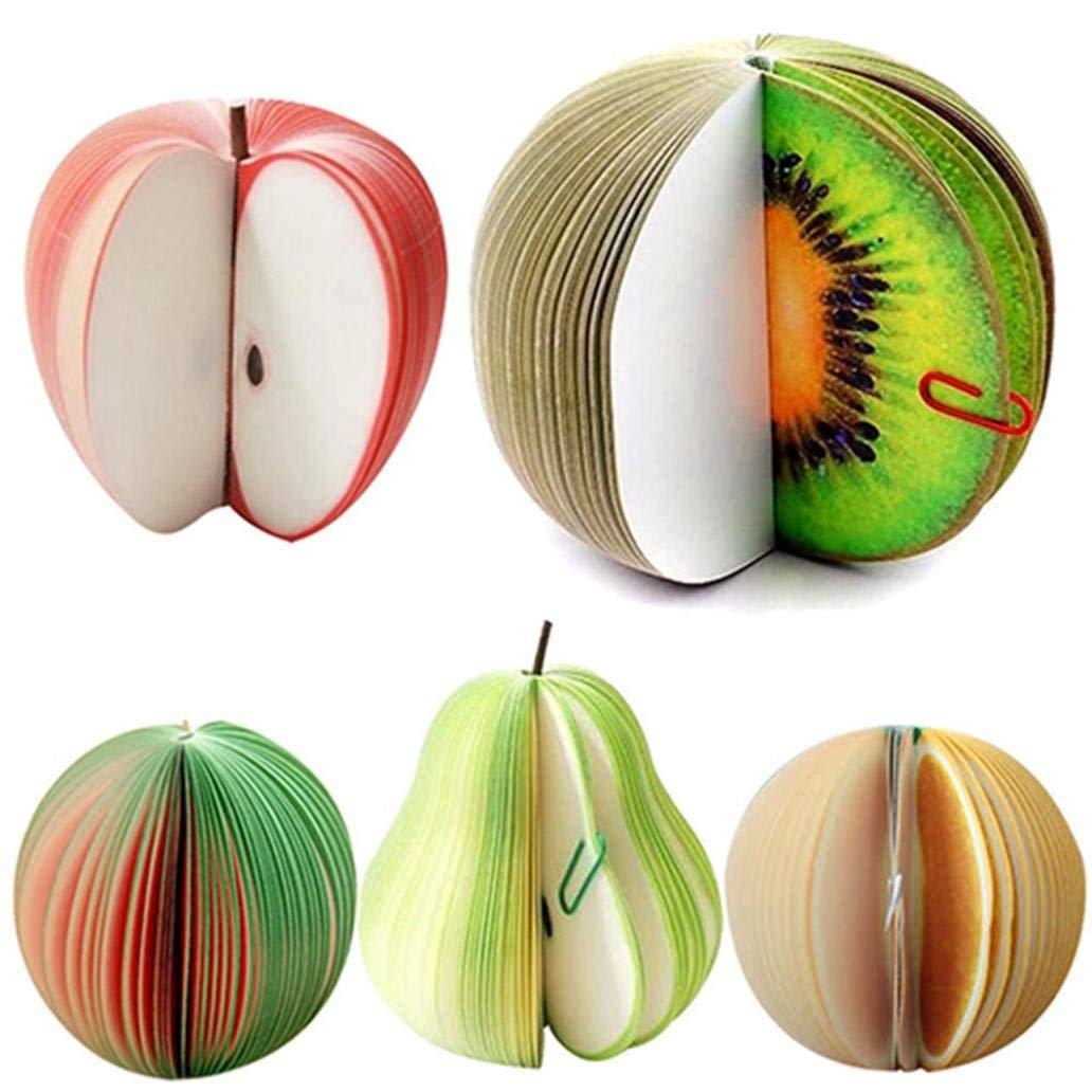 Ogquaton Qualit/é sup/érieure Mignon Forme de fruit Poire Non collant Bloc-notes Papier Remarque Papeterie scolaire Poire