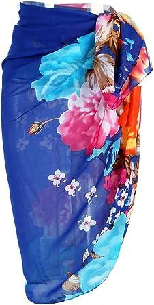 Ayliss Womens Swimwear Chiffon Printed Cover up Beach Sarong Pareo Bikini Swimsuit Wrap