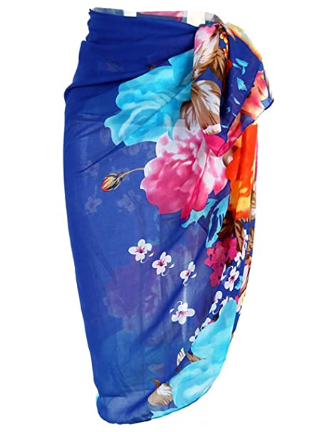 41d7cd79d62e0 Ayliss Womens Swimwear Chiffon Printed Cover up Beach Sarong Pareo Bikini  Swimsuit Wrap