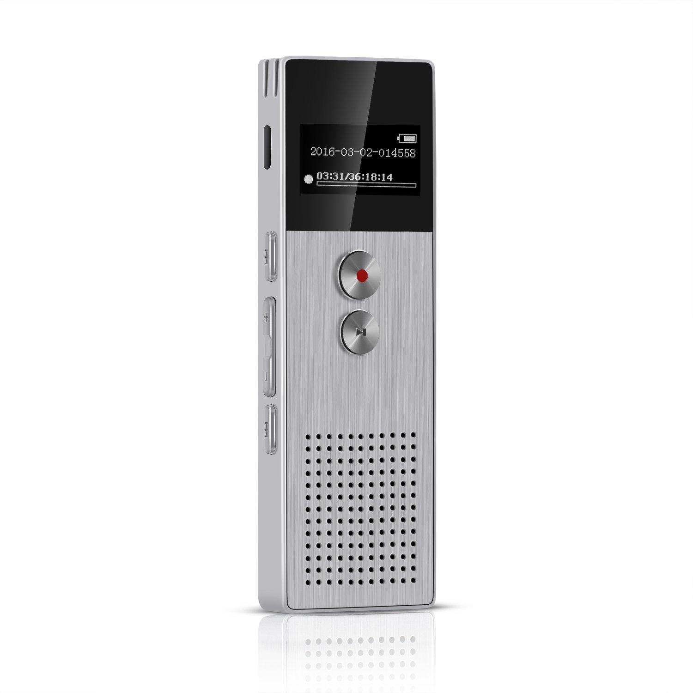 Grabadora de Voz digital GB con Función Reproducir música Altavoz y FM