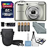 Nikon COOLPIX A10 Digital Camera Bundle with 16GB + Batteries + Case + Deluxe Starters Kit + FiberTique Cleaning Cloth For Sale