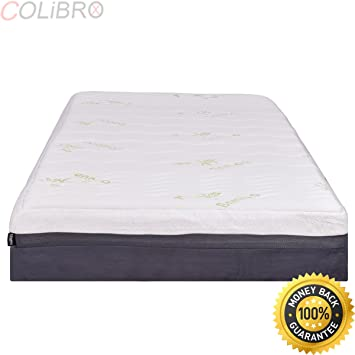 Amazon COLIBROXNEW Full Size 40 Memory Foam Bamboo Fiber Mesmerizing Pillow Top Mattress Covers Bed Bath And Beyond