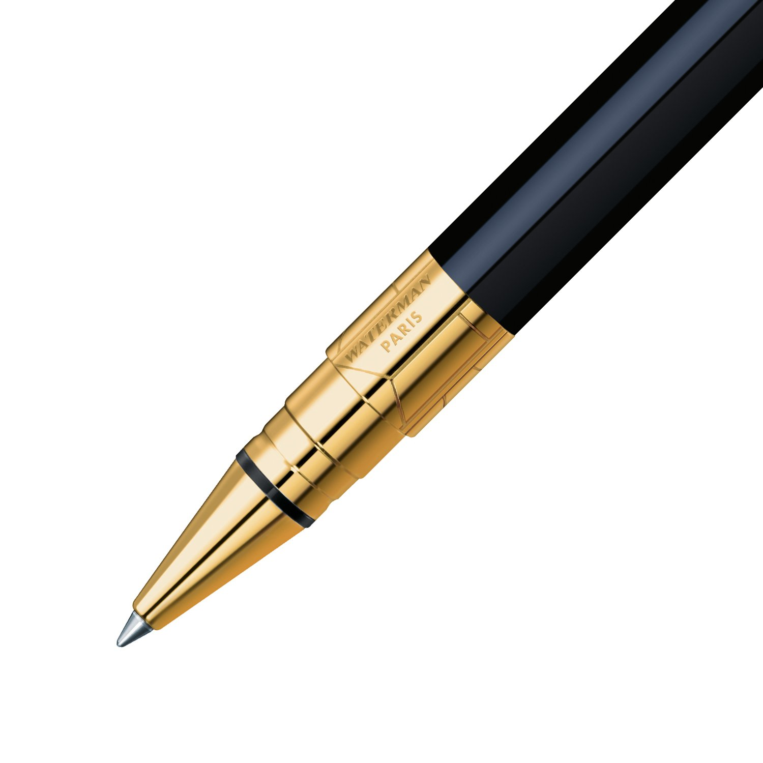 Waterman Perspective Black with Golden Trim, Rollerball pen with Fine Black refill (S0830860) by Waterman (Image #4)